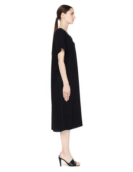 Blackyoto Vintage Dyed Black Cotton Dress - BLACK