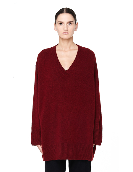 The Row Sabrinah Cashmere Oversized V-neck Sweater