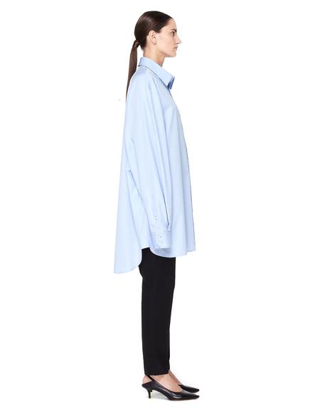 Maison Margiela Cotton Oversized Shirt - Light Blue