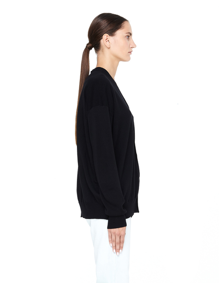 Junya Watanabe Oversized Wool Cardigan - Black