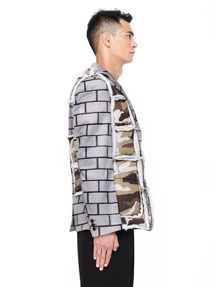 Comme des Garcons Homme plus Padded Printed Jacket - Bricks/Camo