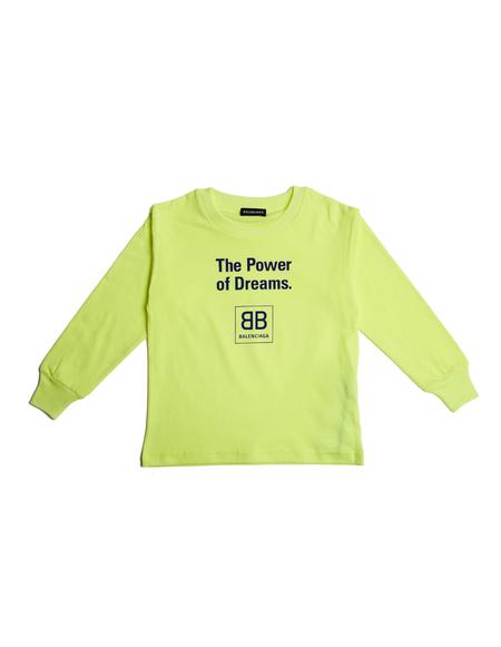 Kids Balenciaga Long Sleeve T-Shirt - Yellow