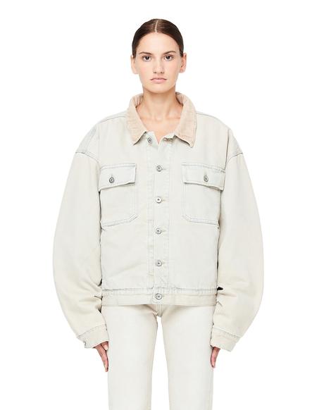Yeezy Flannel Lined Oversized Denim Jacket