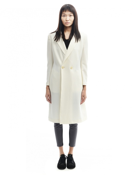 08sircus Polyester coat - White