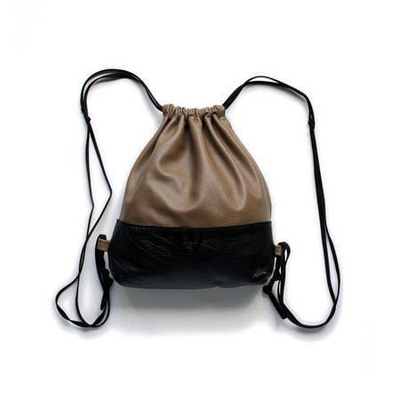 c0a7c0a7f7e ... AW by Andrea Wong Mini Drawstring Backpack - CARAMEL BLACK