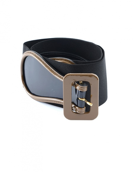 Marni Leather And Textile Belt