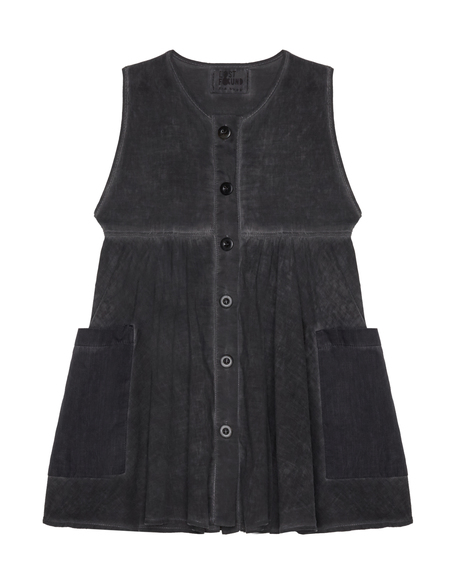 Kids Lost&Found Cotton Dress - Gray