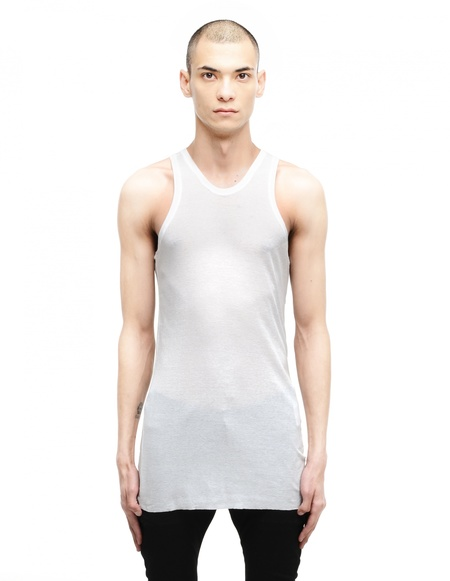 Julius Cotton/Polyester Tank Top - White