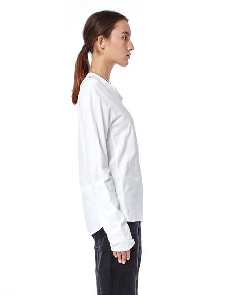 Volga Volga Double Faced Cotton Long Sleeve T-shirt - White