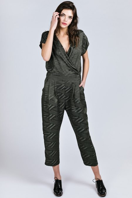 Allison Wonderland Getty Jumpsuit - GREEN