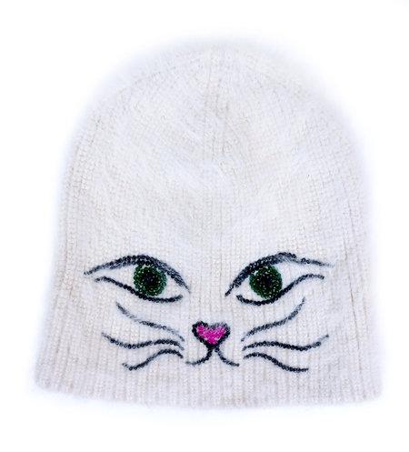 Jennifer Behr Kitty Beanie - WHITE