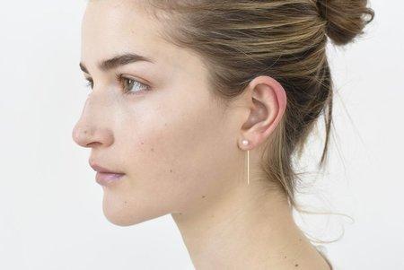 8.6.4 Pearl Earrings - 14k Gold