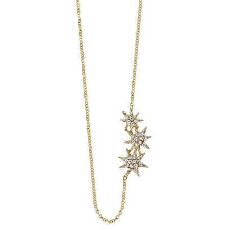 Gabriela Artigas Triple Star Necklace - Pave Diamonds/Yellow Gold