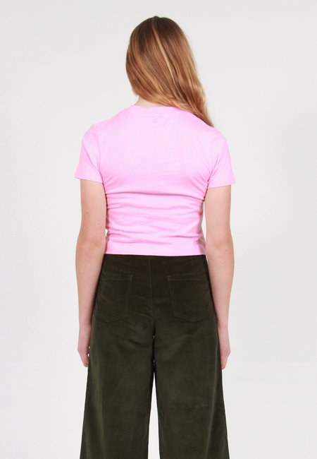 Lazy Oaf Long Hair Don't Care T-Shirt - Pink