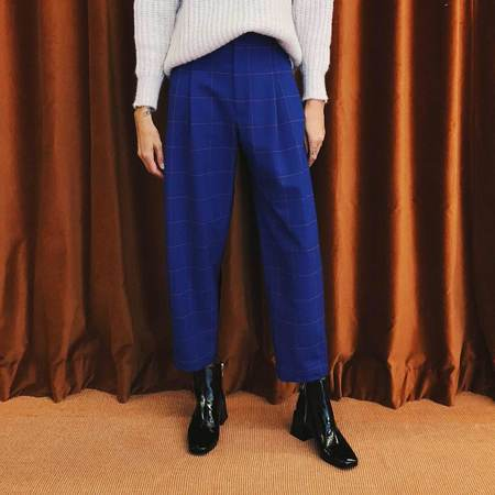 Colovos Buckle Pant - Blue/Red Check