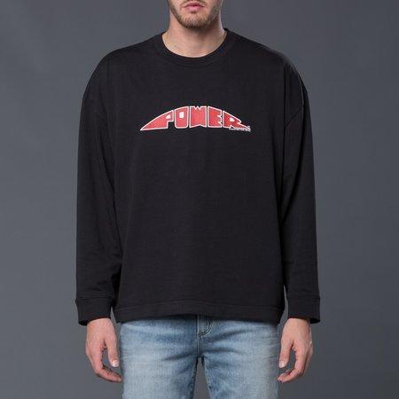 Willy Chavarria Power Long Sleeve Macho Buffalo Tee Shirt - Black