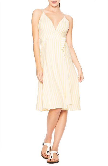 Capulet Simona Wrap Dress - Pollen