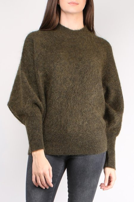 Cathrine Hammel Soft Rounded Sweater - Army Green