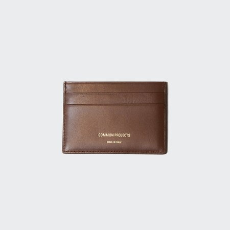 Woman by Common Projects  Soft Leather Multi Cardholder - Dark Brown