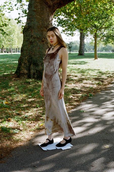 Nomia Bias Velvet Tank Gown - Mist