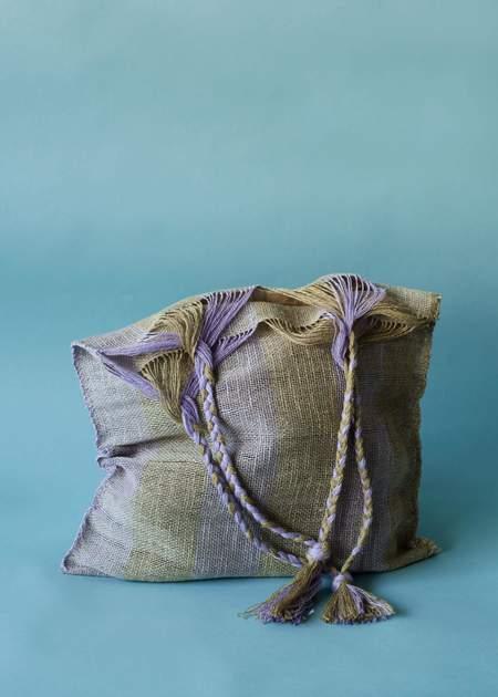 Marta Buda Hand Woven Bag - Lilac Safari Stripe