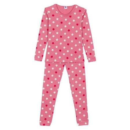 KIDS Petit Bateau Child Pyjamas - Pink With Stars