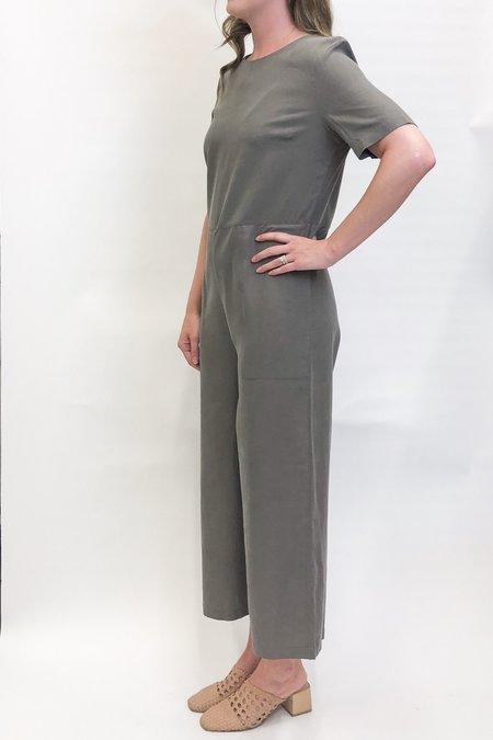 7115 by Szeki Short Sleeve Jumpsuit - Concrete