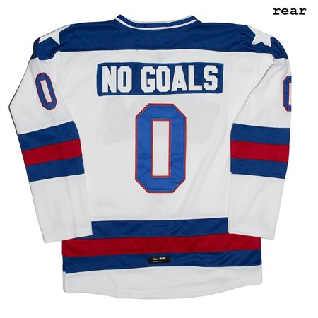 Unisex Skim Milk No Goals Hockey Jersey - White