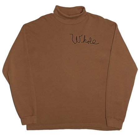 Unisex Skim Milk Whole Thermal Turtleneck Top - Gold