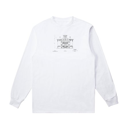 Long Sleeve Graphic T-Shirt (x RESIDENCE) - White