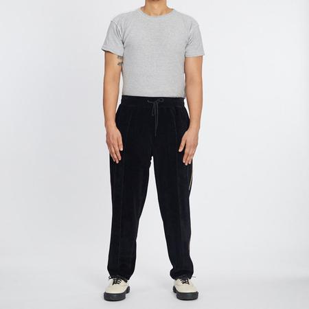 S.K. Manor Hill Velour Maestro Pant - Black w/ Braid