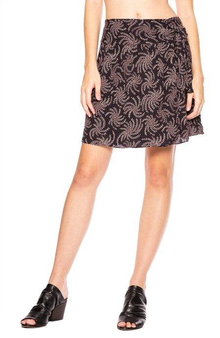 Ba&sh Cortese Leafy Skirt - Navy Blue