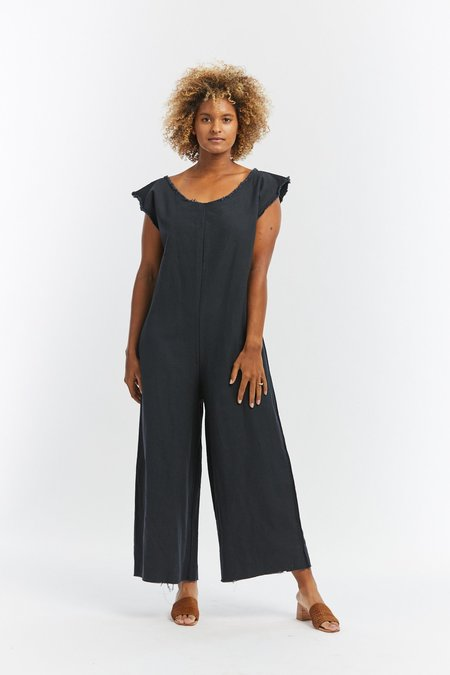 Miranda Bennett Denim Coveralls - Almost Black