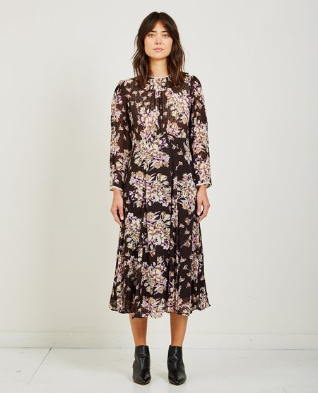 byTiMo SEMI COUTURE FLARED DRESS - PALACE BLACK