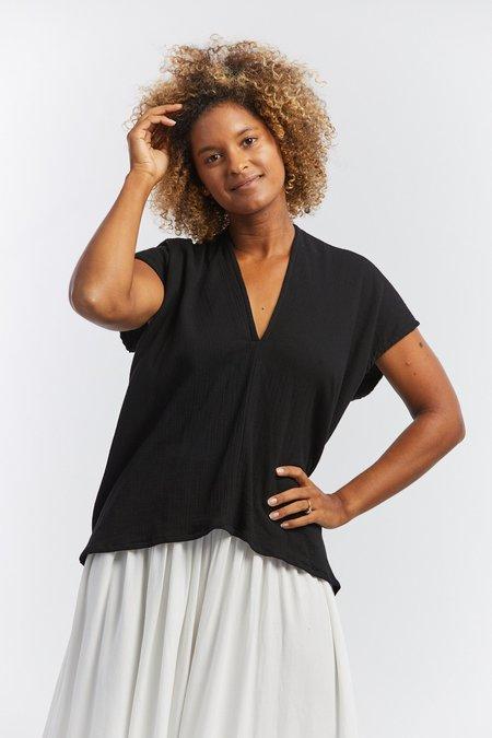 Miranda Bennett Lined Cotton Everyday Top - Black