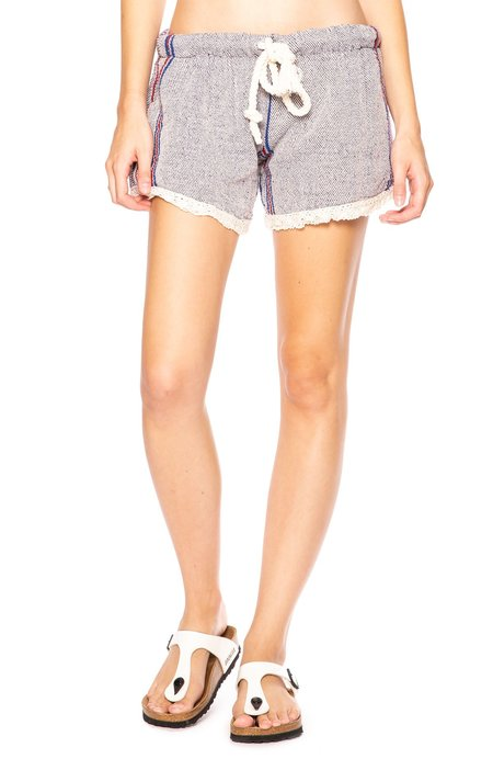 Beach Freedom Lace Trim Short