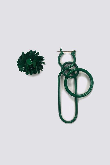 A Détacher Poppy/Fern Combo Earrings - Green