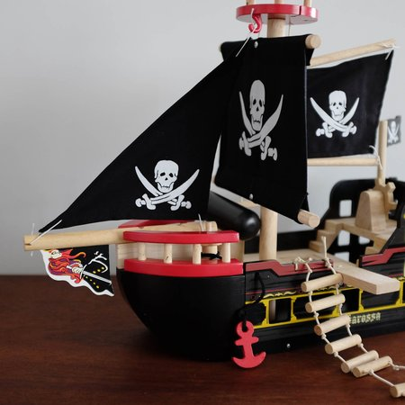Kids Le Toy Van Wooden Pirate Ship