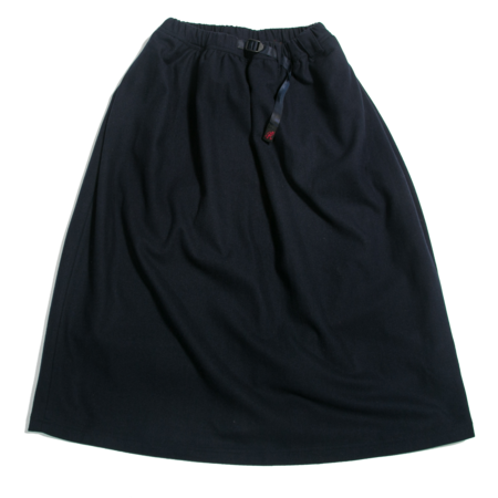 Gramicci Wool Blend Long Flare Skirt - Double Navy
