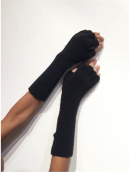 Isabel benenato Long Cut-Out Wool Gloves