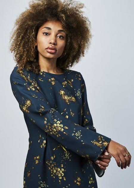 Odeeh Fitted Long Sleeve Dress - Dark Teal