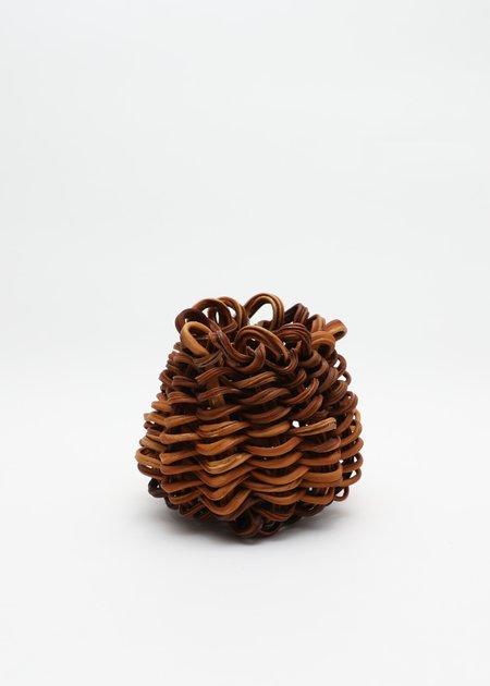 Lina Prairie Kelp Swirl Basket - Brown