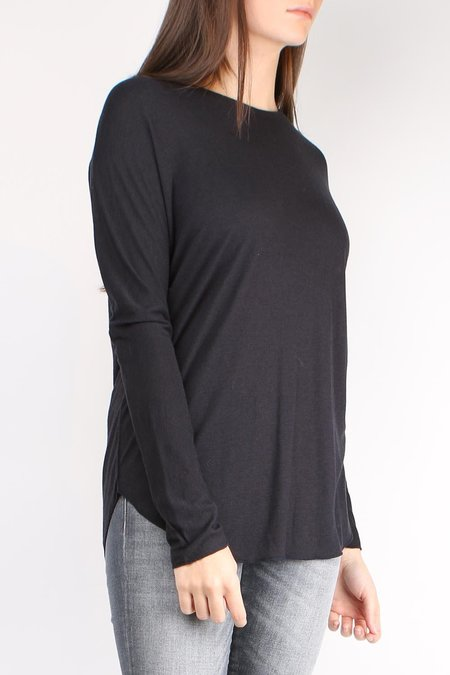 Cathrine Hammel L/S Wool Jersey Top - Ink Blue