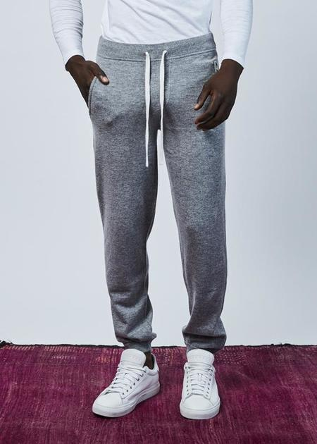 Allude Wool and Cashmere Blend Jogger - Heather Gray
