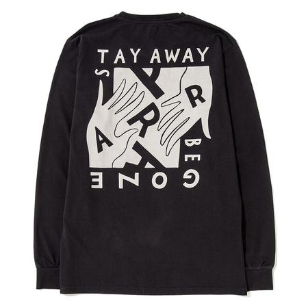 by Parra Stay Away Be Gone Long Sleeve T-shirt - Black