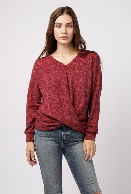 Azalea Twist Front Hacci Sweater