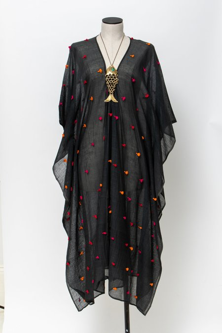 Two Caftan w/ Tassel - Black