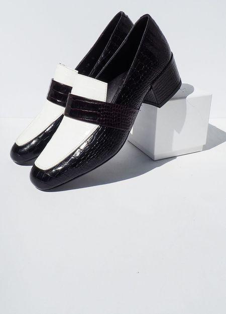 Freda Salvador Rock Mid Heel Loafer - Tri Color