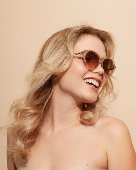 Love Is You And Me Velvet Canyon Heartbreaker Sunglass - Tan