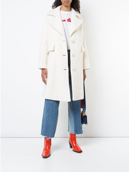 Ganni Fenn Coat - White